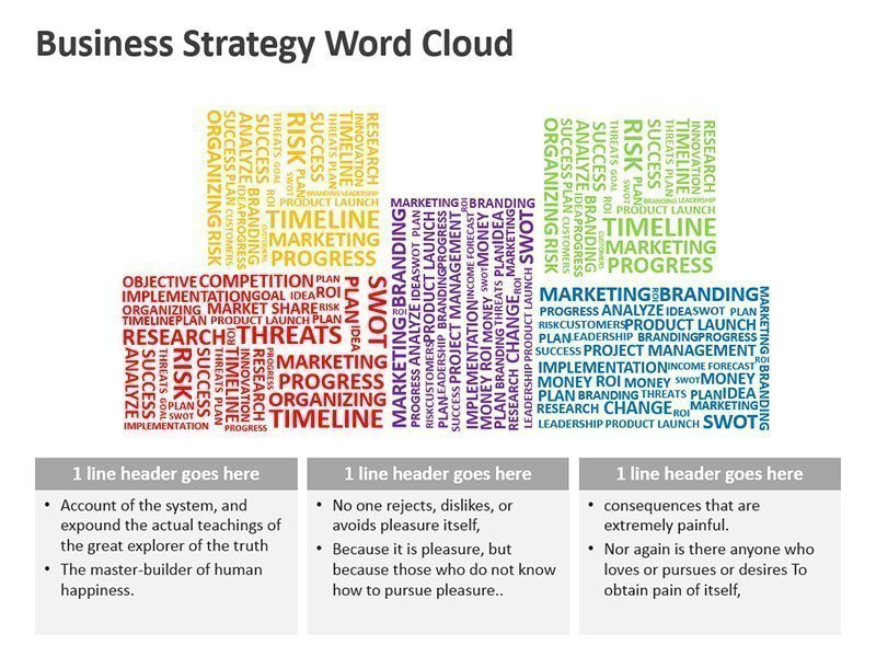Strategy Word Cloud - Editable PowerPoint Slide