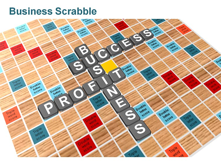 PowerPoint Scrabble Tiles for Business Presentations