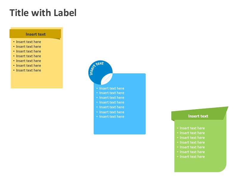 Table with Label - PowerPoint Slide