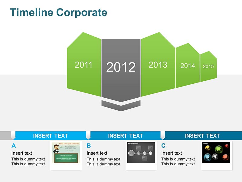 Timeline Corporate Diagrams of PowerPoint