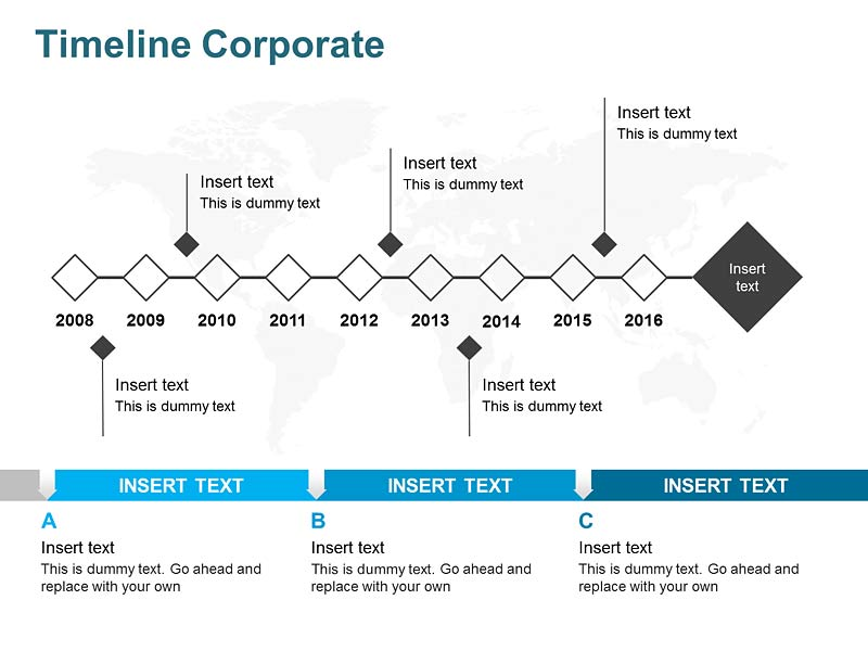 Corporate History Timeline Diagrams of PPT