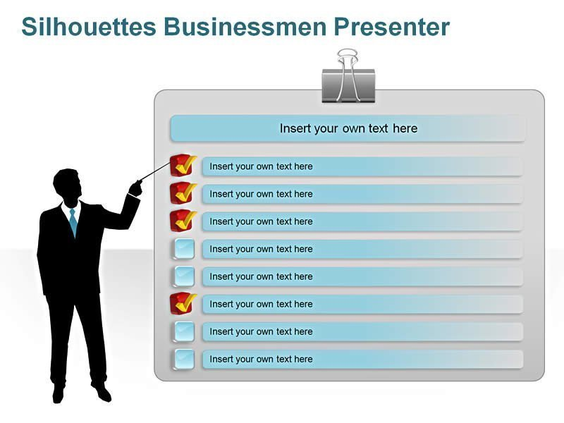 Businessmen Presenter PowerPoint Slides
