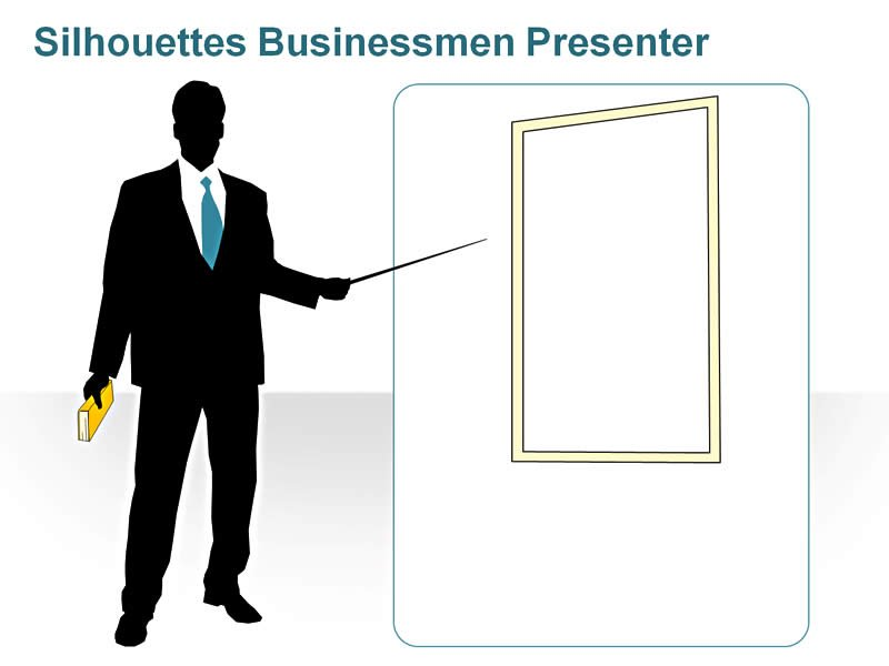 PPT Slide of Silhouettes Business Presenter