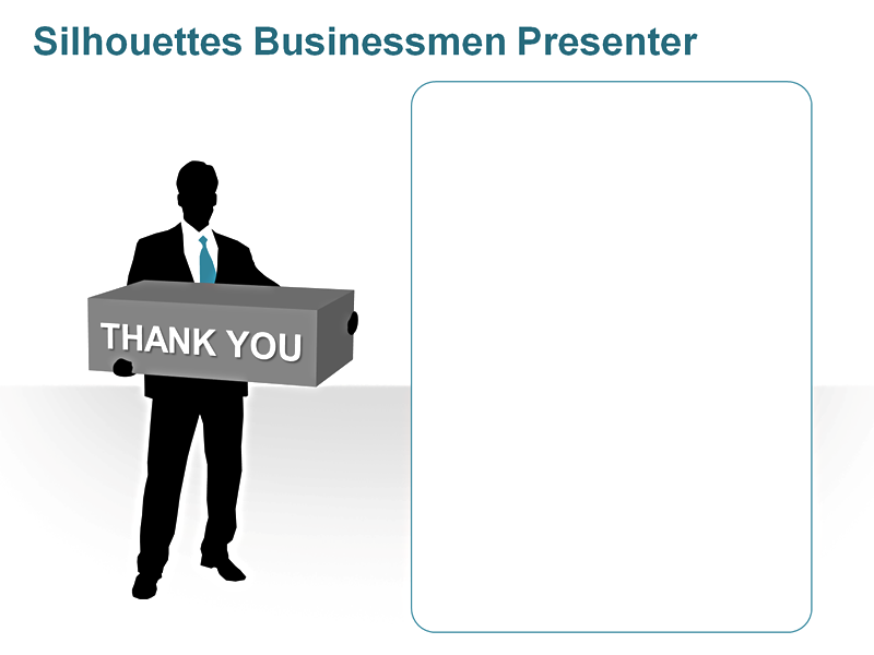 Easy to Edit PowerPoint People - Silhouettes: Businessmen Presenter