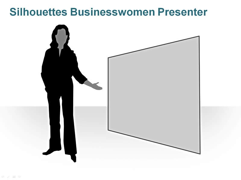 Editable PPT of Silhouettes Female Presenter
