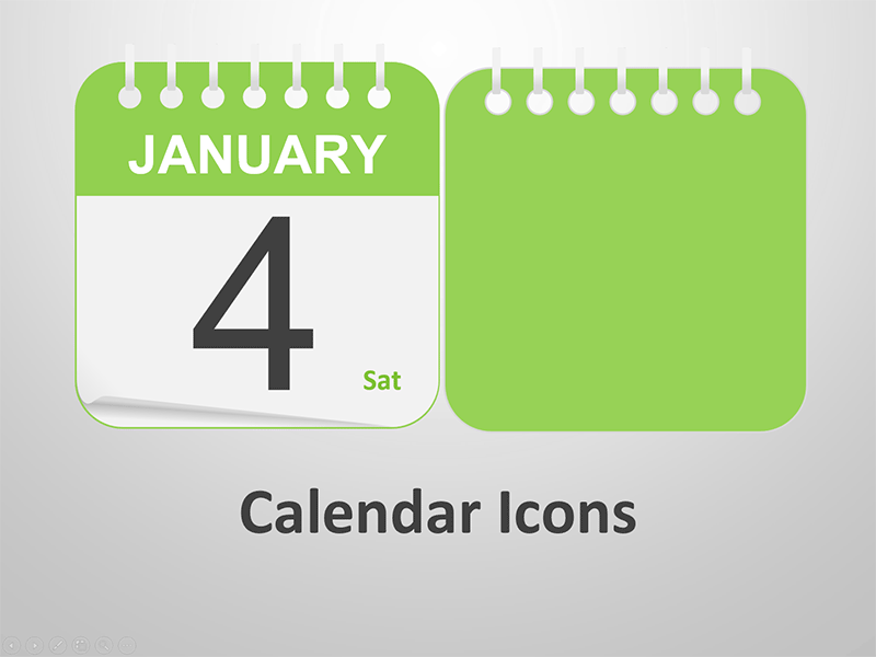 Editable PowerPoint Template - Calendar Icons