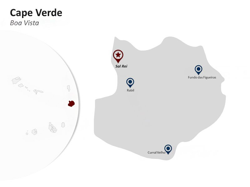 PPT Map of Cape Verde - Boa Vista