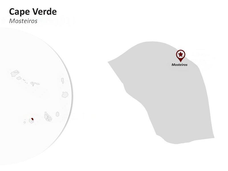 PowerPoint Map on Cape Verde - Mosteiros