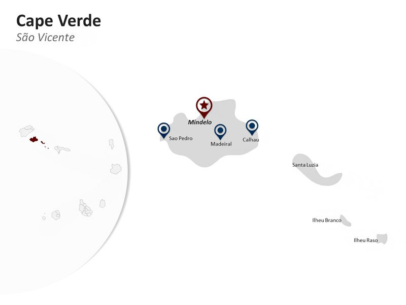 PowerPoint Map of Cape Verde - Sao Vicente