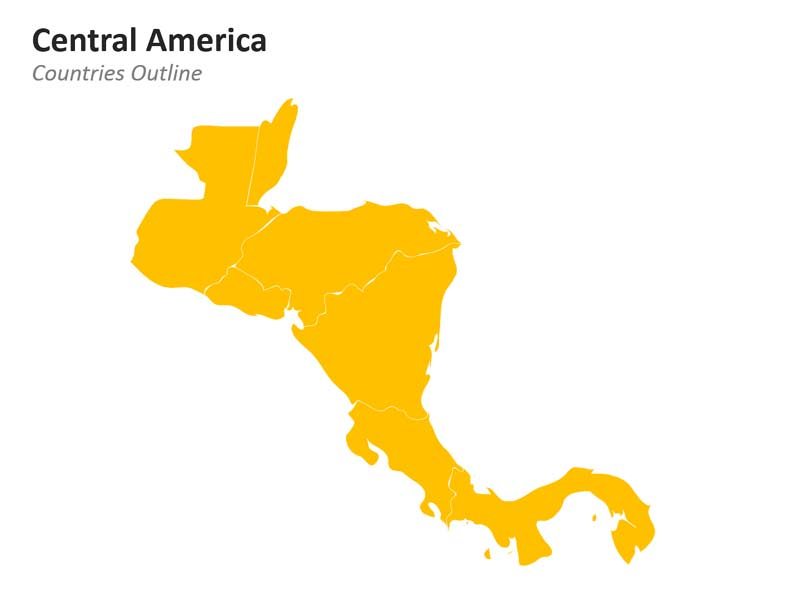 Central America Outline PowerPoint Map