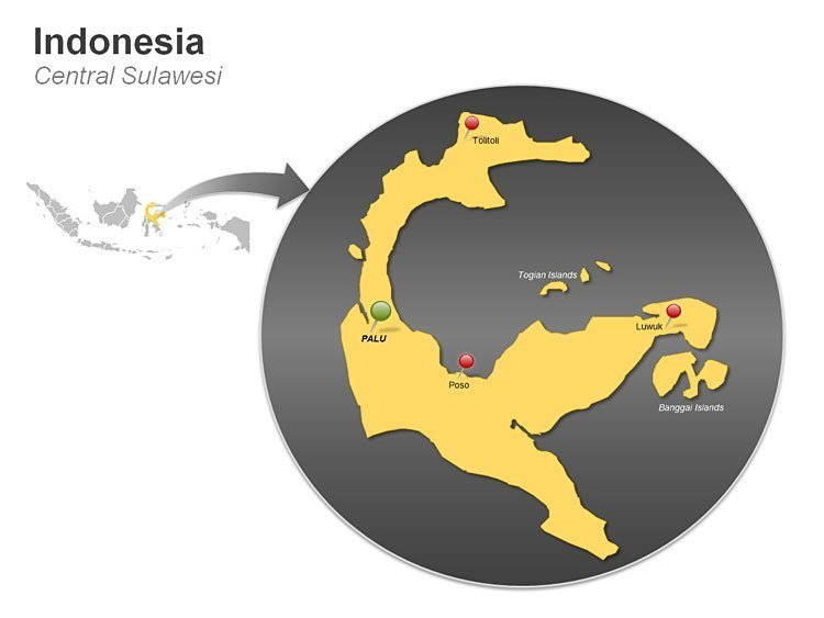 PPT Map of Indonesia - Central Sulawesi