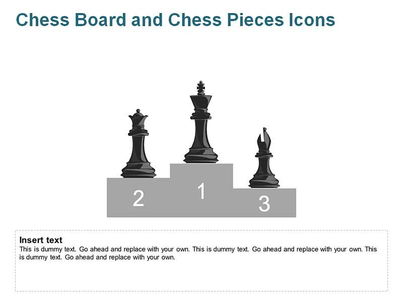 Chess Icons PowerPoint -  Queen, King and Bishop