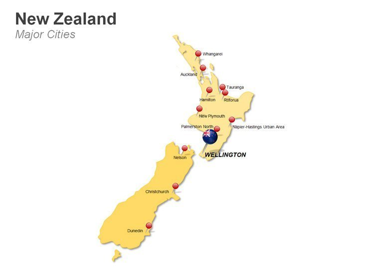 New Zealand Cities Map PPT
