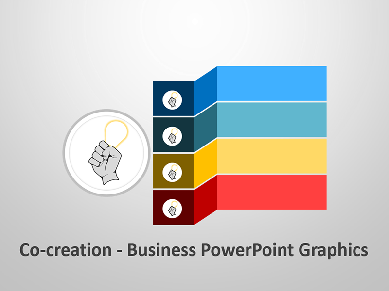 Co-Creation Diagram - Editable PPT Illustrations