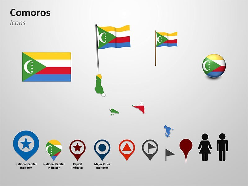 PowerPoint Cliparts - Comoros Map