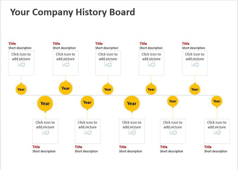 Timeline for Business Pages PowerPoint Slides