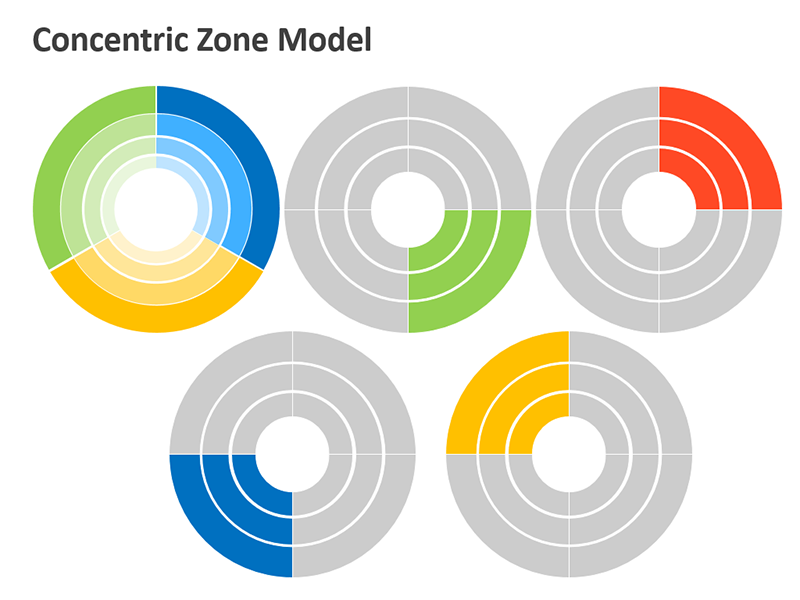 Concentric Circles Template - PPT Slide