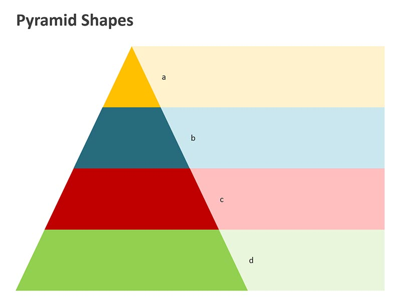 Pyramid Shapes Steps PowerPoint Slide
