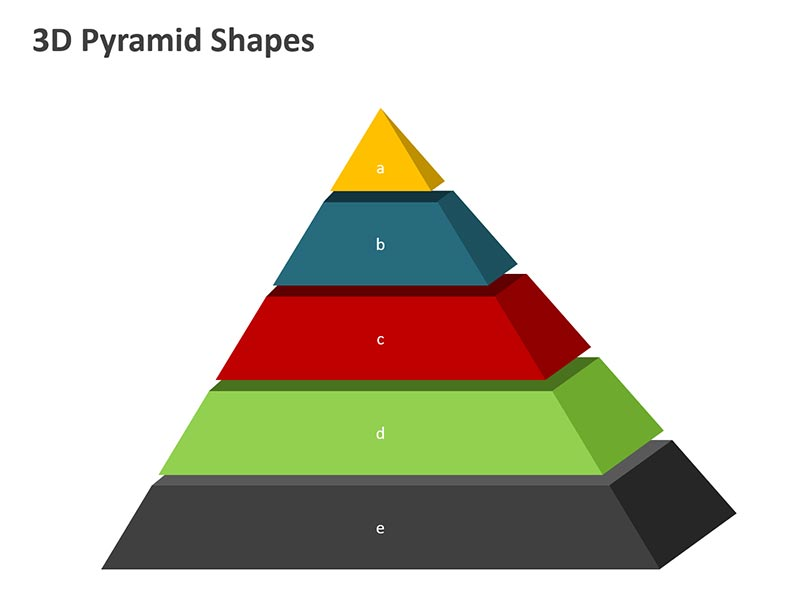 Pyramid 3D Model - Editable PPT Image