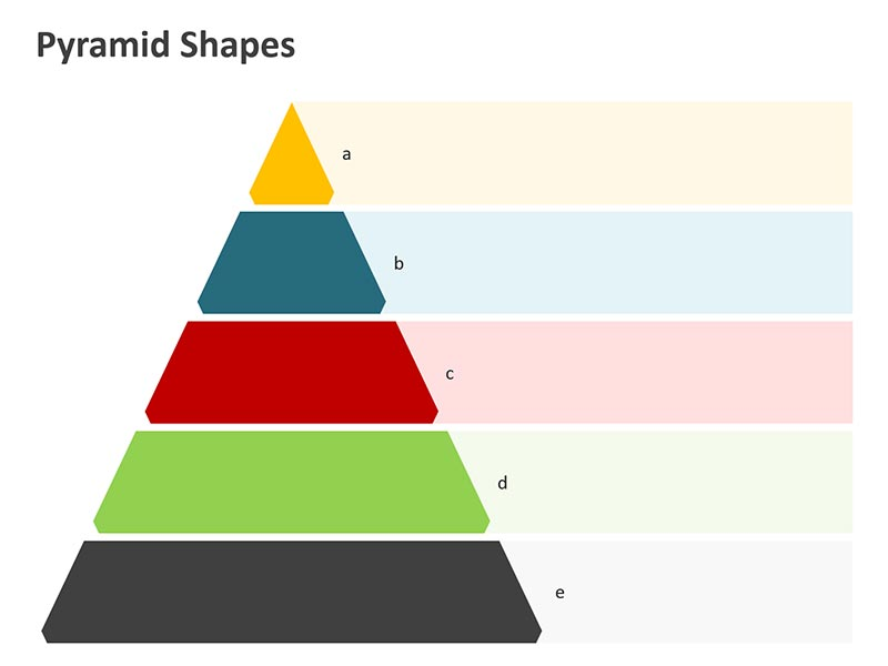 Pyramid Shapes PowerPoint