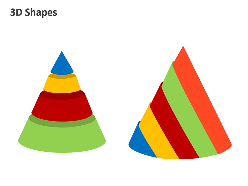 3D Shapes Diagram - Editable PowerPoint Presentation