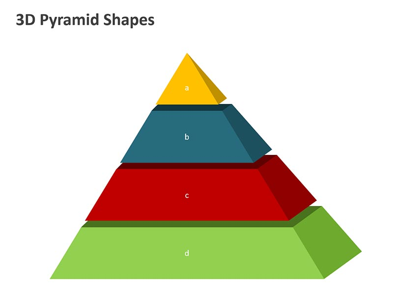 3D Pyramid Diagram PowerPoint Slide