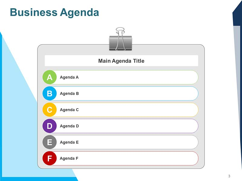 Corporate Meeting Agenda Template
