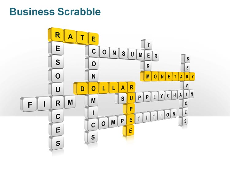 Easy to Edit Scrabble Pieces PowerPoint