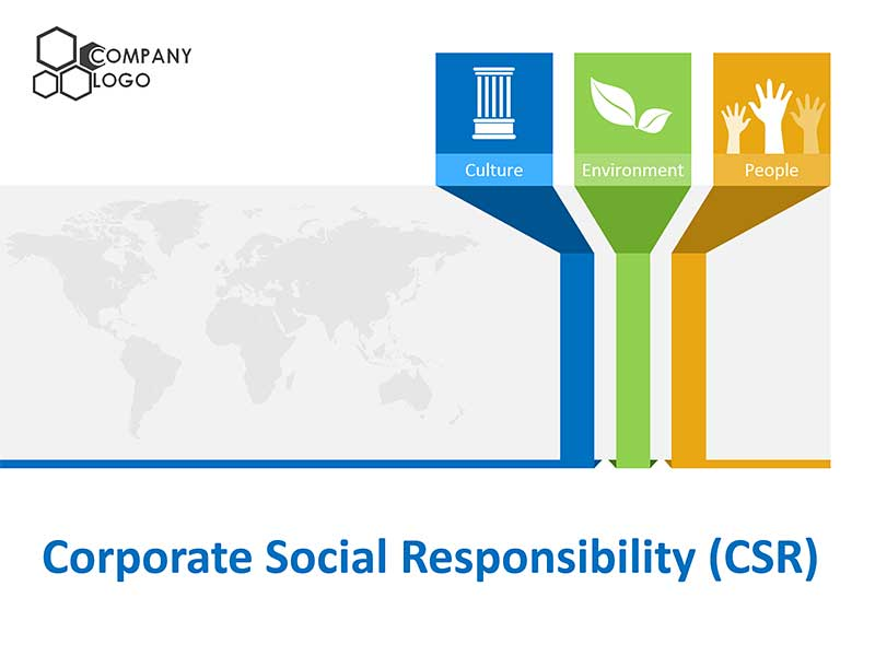 Corporate Social Responsibility (CSR) Template - Editable PowerPoint Slides