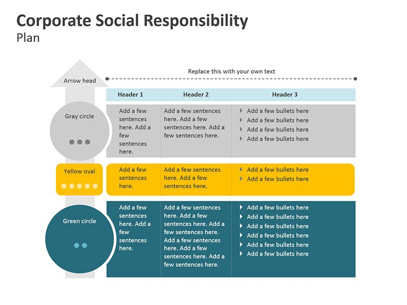 PPT for Corporate Social Responsibility Planning Diagrams