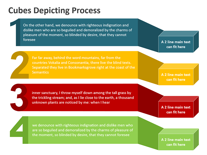 Four Step Process - Editable PowerPoint Slide