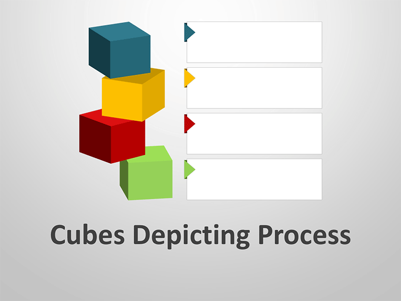 Cubes Depicting Data Processing - Editable PowerPoint Presentation