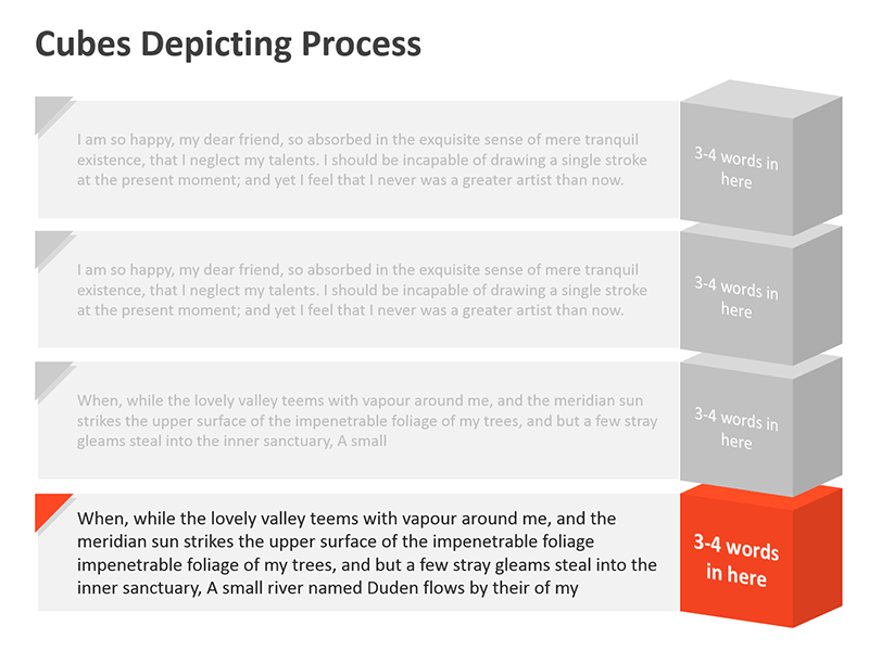 Data Processing Diagram - Editable PowerPoint Slide