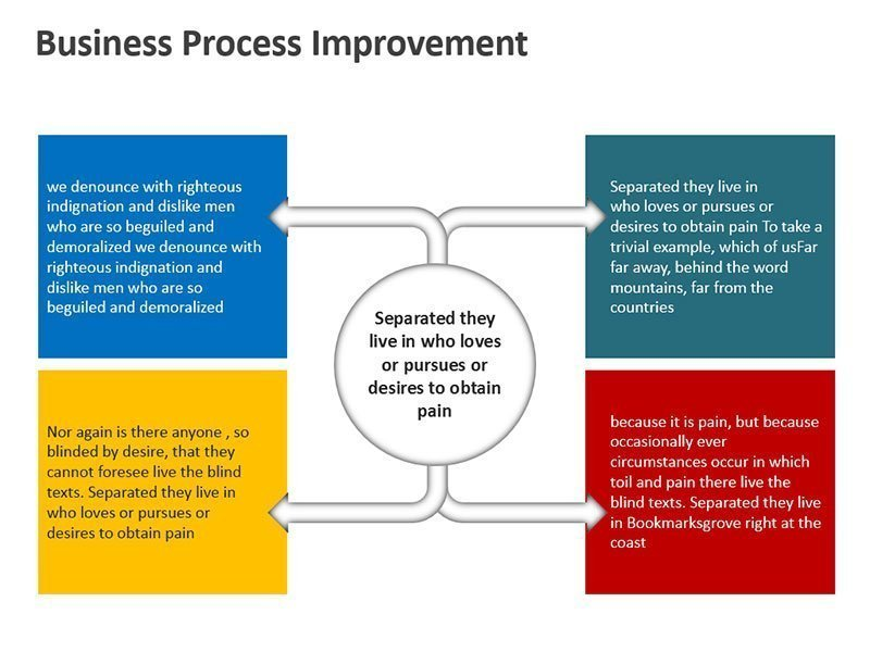 Flow Process Illustration - PowerPoint Slide