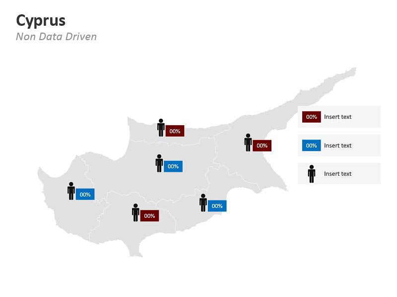 Demographic Map of Cyprus PPT Slide