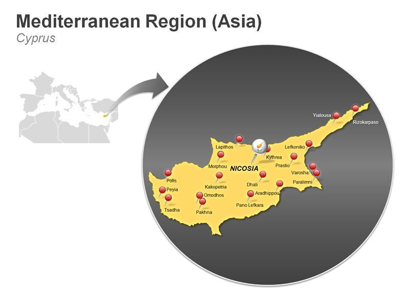 Editable PowerPoint Presentation of Mediterranean Region of Cyprus