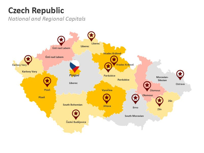 National and Regional Capitals - Czech Republic