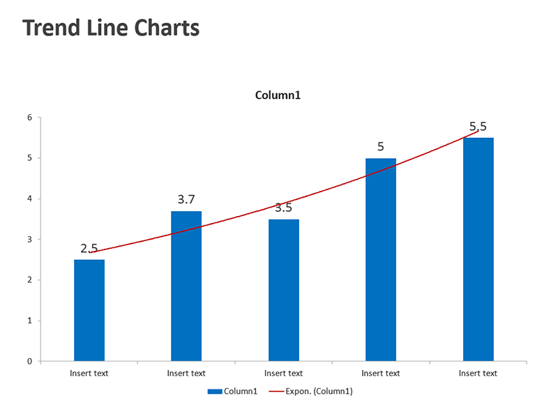 Business Graph Chart Editable PowerPoint Slide