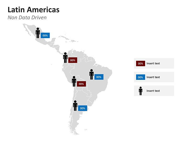 Demographic of Latin America Map - PPT Slides