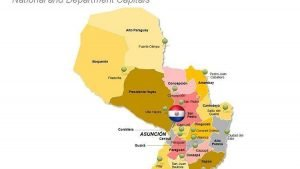 Departments of Paraguay - PPT Map