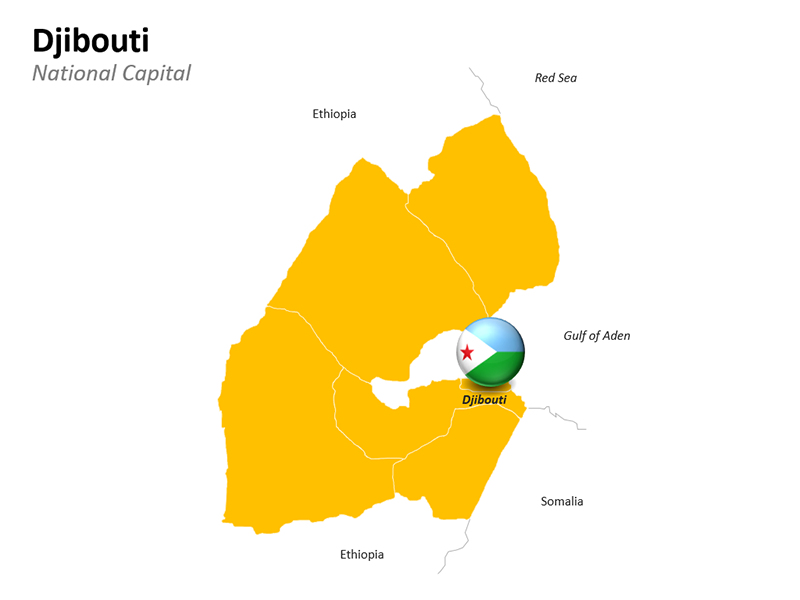 Djibouti Map - Editable PowerPoint Slide
