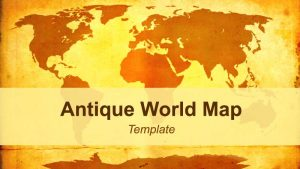 Vintage World Map Template for PowerPoint