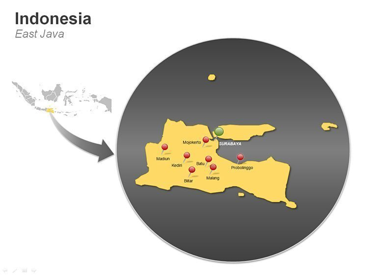 Map of Indonesia PPT - East Java