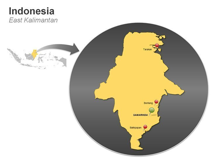 Indonesia - East Kalimantan Map