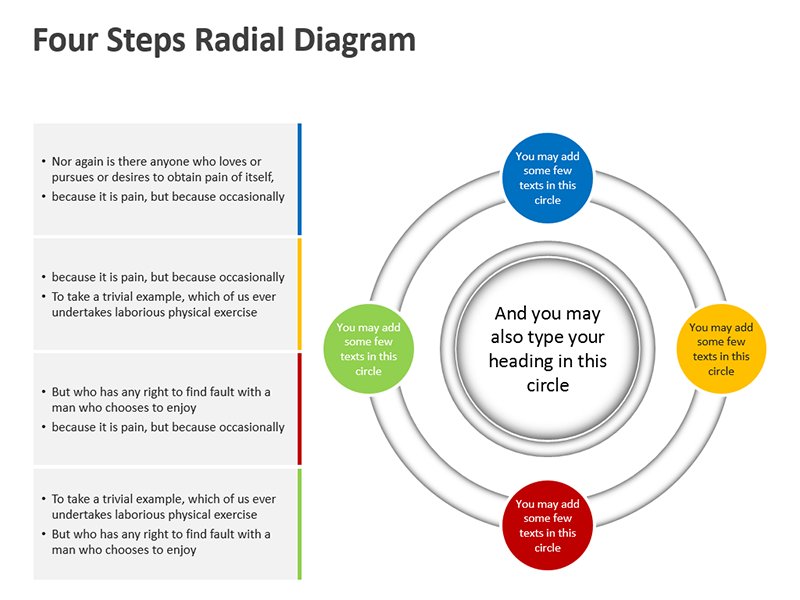 Radial Diagram with Spheres - PPT Clipart