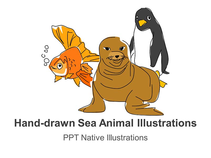 Images of Sea Animals PowerPoint Cliparts