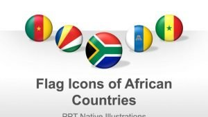 Editable PowerPoint Illustrations - Flags of African Countries