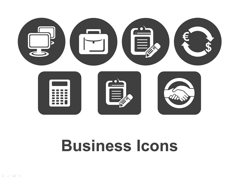 Vector Business Icons for PowerPoint Presentations