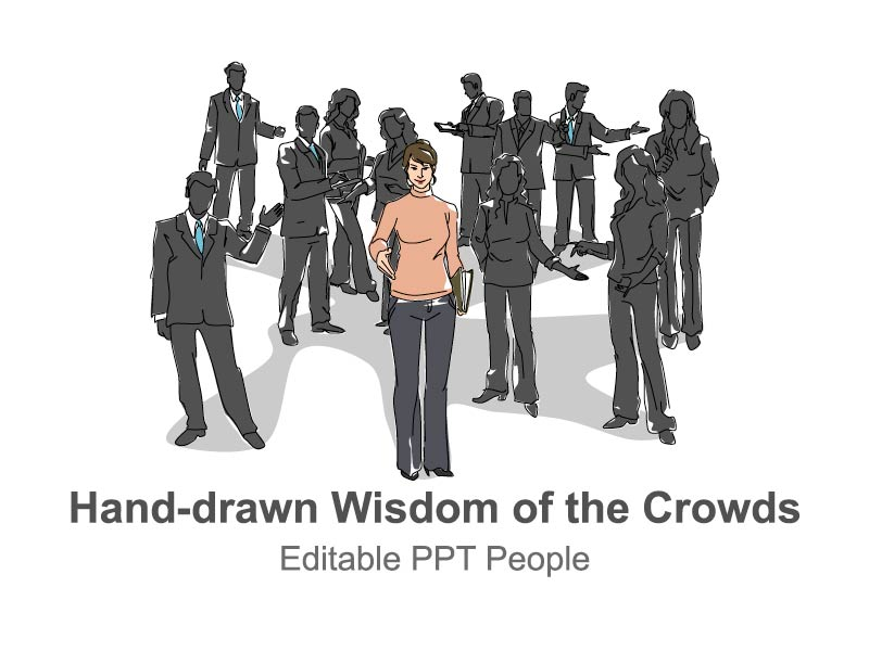 Editable Hand-drawn Wisdom of the Crowds PowerPoint Slides