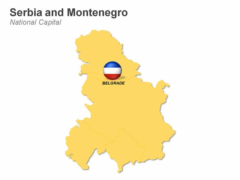 Editable Map of Serbia and Montenegro - Mali i Zi (official, Albanian)
